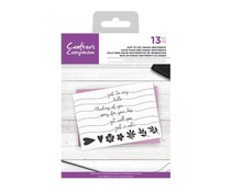 Crafter's Companion Clear Stamps Just To Say Swash Sentiments (CC-CA-ST-JSS)