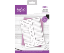 Crafter's Companion Clear Stamps Memo Cards (CC-STP-MEMO)