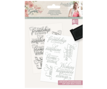 Crafter's Companion Rose Garden Clear Stamps Happiness Blooms (S-RGA-STP-HAPB)