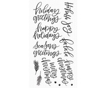 My Favorite Things Hand-Lettered Holiday Greetings Clear Stamps (CS-516)