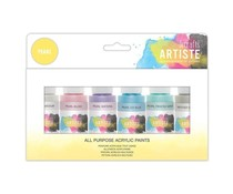 Docrafts Artiste Acrylic Paint Pack 6x59ml Pearl (DOA 763292)