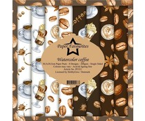 Paper Favourites Watercolor Coffee 12x12 Inch Paper Pack (PF353)
