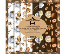 Paper Favourites Watercolor Coffee 6x6 Inch Paper Pack (PF153)