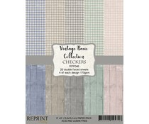 Reprint Checkers Vintage Basic Collection 6x6 Inch Paper Pack (RPP046)