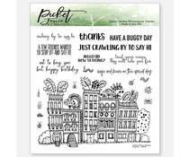 Picket Fence Studios Bugville 6x6 Inch Clear Stamps (BB-139)