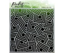 Picket Fence Studios Geo Squares 6x6 Inch Stencils (SC-190)