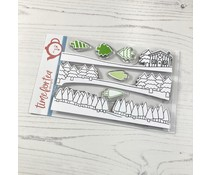 Time For Tea Winter Backgrounds A6 Clear Stamps (T4T/486/Win/Cle)