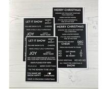 Time For Tea Winter Wonderland Black Sentiment Cards (T4T/505/WWS/Bla)