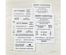 Time For Tea Winter Wonderland White Sentiment Cards (T4T/506/WWS/Whi)