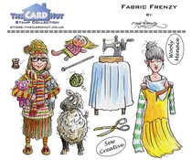 The Card Hut Garden Sheds: Fabric Frenzy Clear Stamps (MBGSFF)