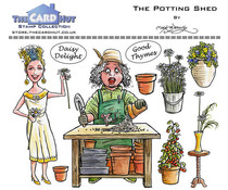 The Card Hut Garden Sheds: The Potting Shed Clear Stamps (MBGSPS)