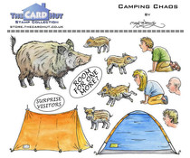 The Card Hut Great Outdoors: Camping Chaos Clear Stamps (MBGOCC)