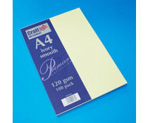 Craft UK Premium Collection A4 Ivory Smooth Paper Pack (CUKW126)