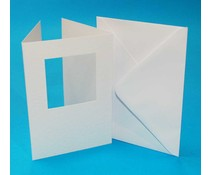 Craft UK Aperture Cards & Envelopes A6 White Hammered Tri-Fold Square (CUK10783)