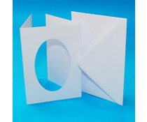 Craft UK Aperture Cards & Envelopes A6 White Tri-Fold Oval (CUK10654)