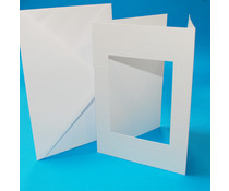 Craft UK Aperture Cards & Envelops A5 White Tri-Fold Rectangle (CUK10765)