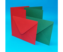 Craft UK Card and Envelope Red & Green 5x7 Inch (CUK2039)
