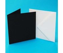 Craft UK Card with Envelope Black/White 5x5 Inch (CUK415)