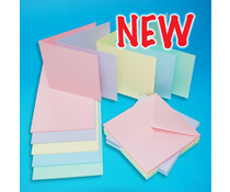 Craft UK Cards & Envelopes Assorted Pastel 6x6 Inch (CUK2380)