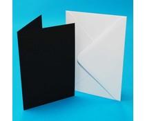Craft UK Cards & Envelopes C6 Black/White (CUK413)