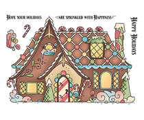 LDRS Creative Gingerbread House Set 4x6 Inch Clear Stamps (LDRS3276)
