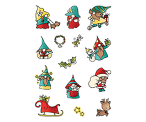 LDRS Creative Holiday Gnomes Set4x6 Inch Clear Stamps (LDRSPD224)