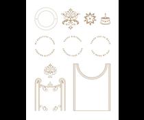 Spellbinders Filigree Crescent Band Glimmer Hot Foil Plate (GLP-239)