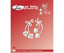 By Lene Hanging Hearts Cutting & Embossing Dies (BLD1327)