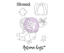 Prima Marketing Julie Nutting Doll Stamp Autumn Hugs (913182)