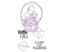 Prima Marketing Julie Nutting Doll Stamp Hello Fall (913229)