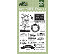 Echo Park Coffee & Friends Coffee Addict Clear Stamps (CF230040)