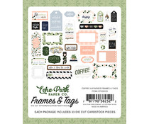 Echo Park Coffee & Friends Frames & Tags (CF230025)