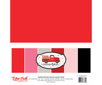 Echo Park Cupid & Co. 12x12 Inch Coordinating Solids Paper Pack (CUP227015)