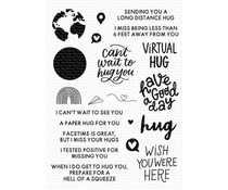 My Favorite Things I Miss Your Hugs Clear Stamps (CS-525)