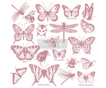 Re-Design with Prima Decor Clear-Cling Stamps 12x12 Inch Monarch Collection (650087)