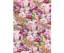 Re-Design with Prima Fuchsia Meadow Decor Rice Paper (651299)