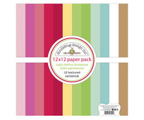 Doodlebug Design Night Before Christmas 12x12 Inch Textured Cardstock Paper Pack (7044)