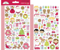 Doodlebug Design Night Before Christmas Mini Icons Sticker (7049)