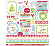 Doodlebug Design Night Before Christmas This & That Sticker (6996)