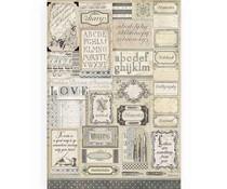 Stamperia Rice Paper A3 Calligraphy (DFSA3081)