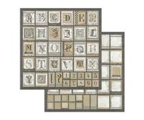 Stamperia Alphabet 12x12 Inch Paper Sheets (10pcs) (SBB741)