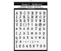 Stamperia Thick Stencil 20x25cm Alphabet and Numbers (KSTD061)