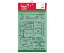 Stamperia Stencil A4 Lady Vagabond Luggage (KSG455)