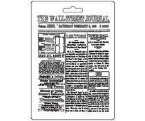 Stamperia Soft Mould A5 The Wall Street Journal (K3PTA563)