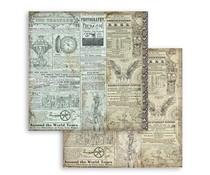 Stamperia Sir Vagabond The Traveler 12x12 Inch Paper Sheets (10pcs) (SBB748)