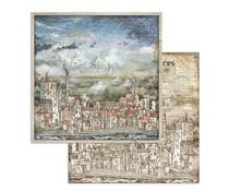 Stamperia Sir Vagabond Cityscape 12x12 Inch Paper Sheets (10pcs) (SBB746)