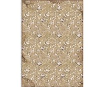 Stamperia Rice Paper A3 Lady Vagabond White Flowers (DFSA3083)