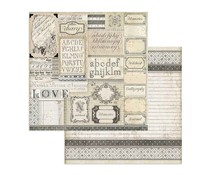 Stamperia Patchwork of Labels 12x12 Inch Paper Sheets (10pcs) (SBB739)