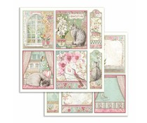 Stamperia Orchid Cards 12x12 Inch Paper Sheets (10pcs) (SBB755)