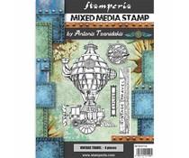 Stamperia Mixed Media Stamp Sir Vagabond Vintage Travel (WTKAT16)